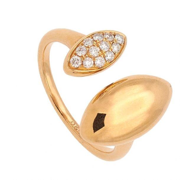 Sortija de oro rosa y diamantes