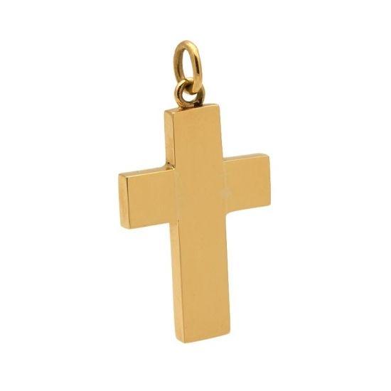 Cruz de oro amarillo