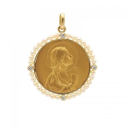 Medalla de oro amarillo,...