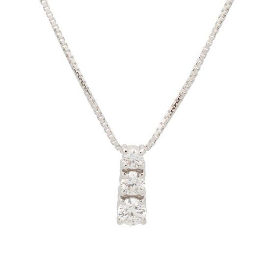 Cadena de oro blanco y diamantes.