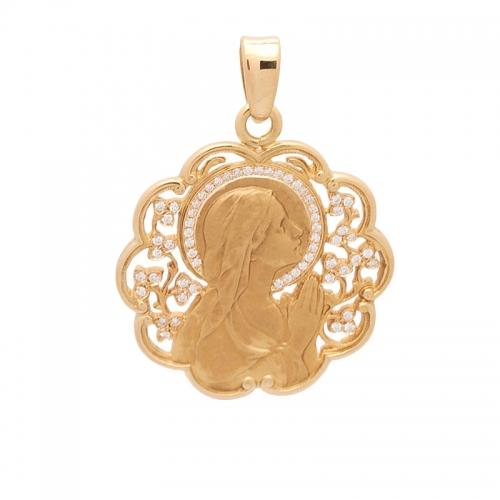 Medalla de oro con brillantes.