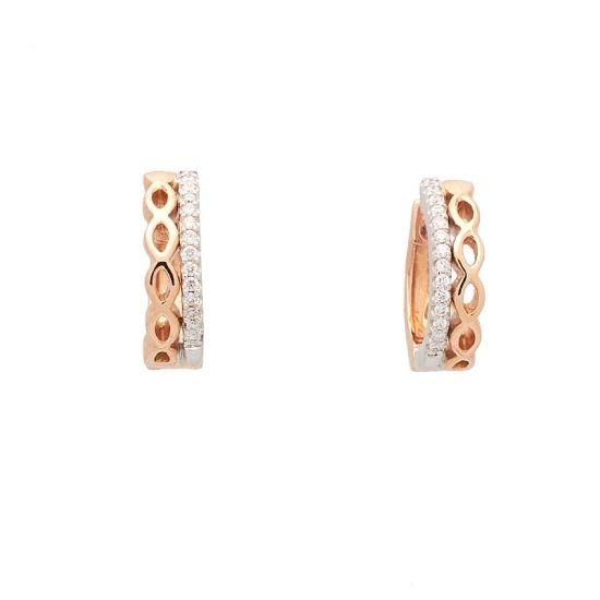 Pendientes de oro blanco y rosa con...