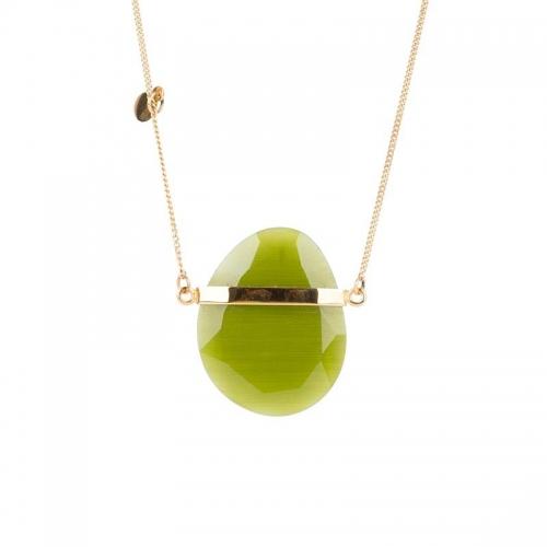 Collar dorado con espinolita verde - 350855