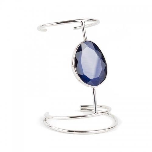 Brazalete de plata con espinolita azul- 328359