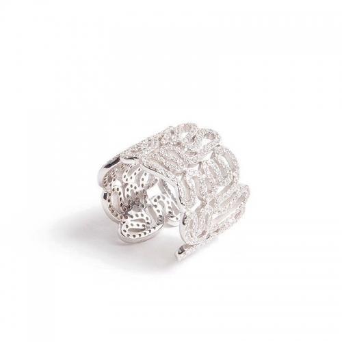 Anillo Infinito Elite White de plata y espinolitas  - 235352