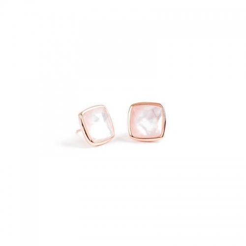 Pendientes Free Fallin de plata y oro rosa  - 312433