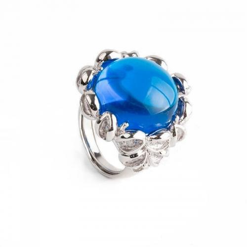 Anillo Sultán de plata y espinolita azul - 370389