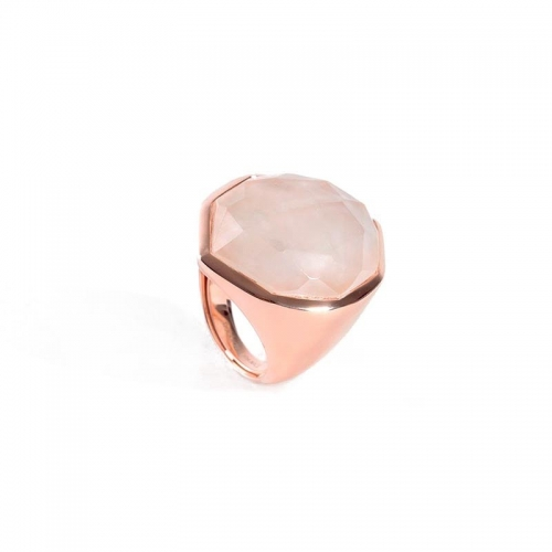 Anillo Aragón de plata y oro rosa - 380579