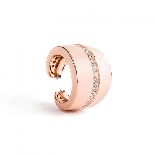 Anillo Dolce Vita de plata y oro rosa - 373847