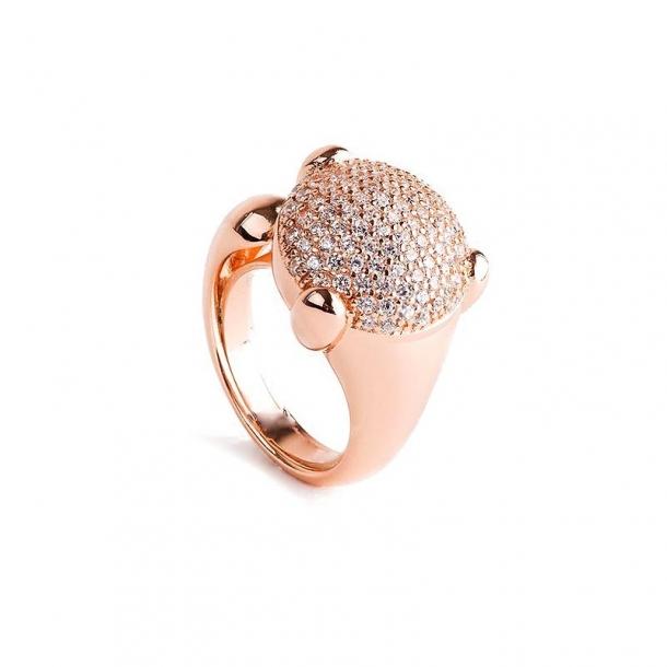 Anillo Dolce Vita de plata y oro rosa - 373809