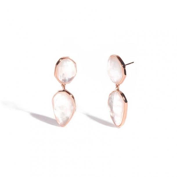 Pendientes Aragón de plata y oro rosa - 380579