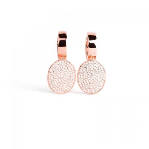 Pendientes Dolce Vita de plata y oro rosa - 373946