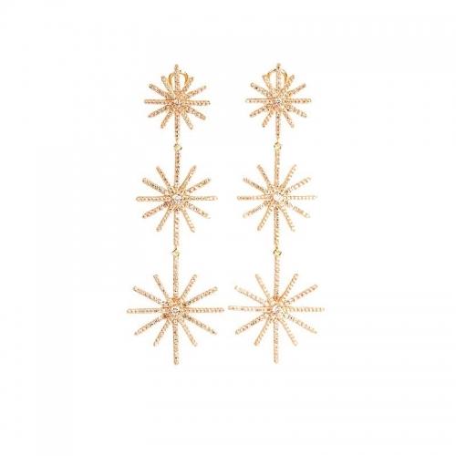 Pendientes Cosmopolita de plata y oro - 367990