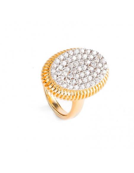 Anillo Condesa de plata y oro - 370433