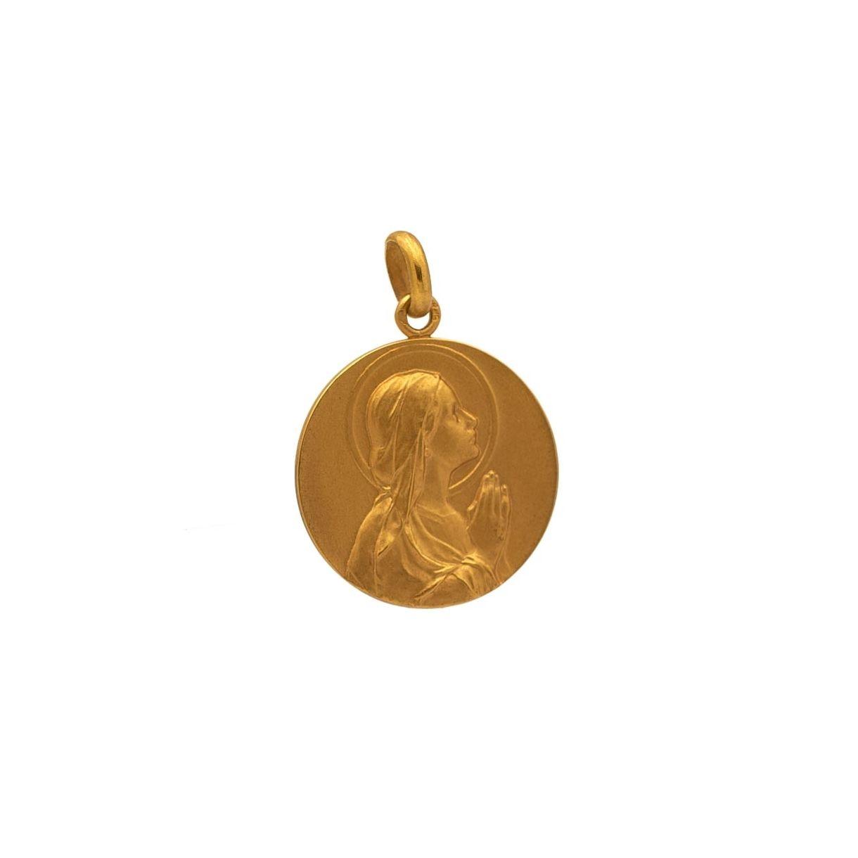 Medalla con imagen de Virgen niña