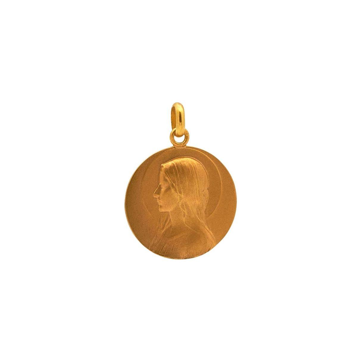 Medalla con imagen de Virgen niña con...