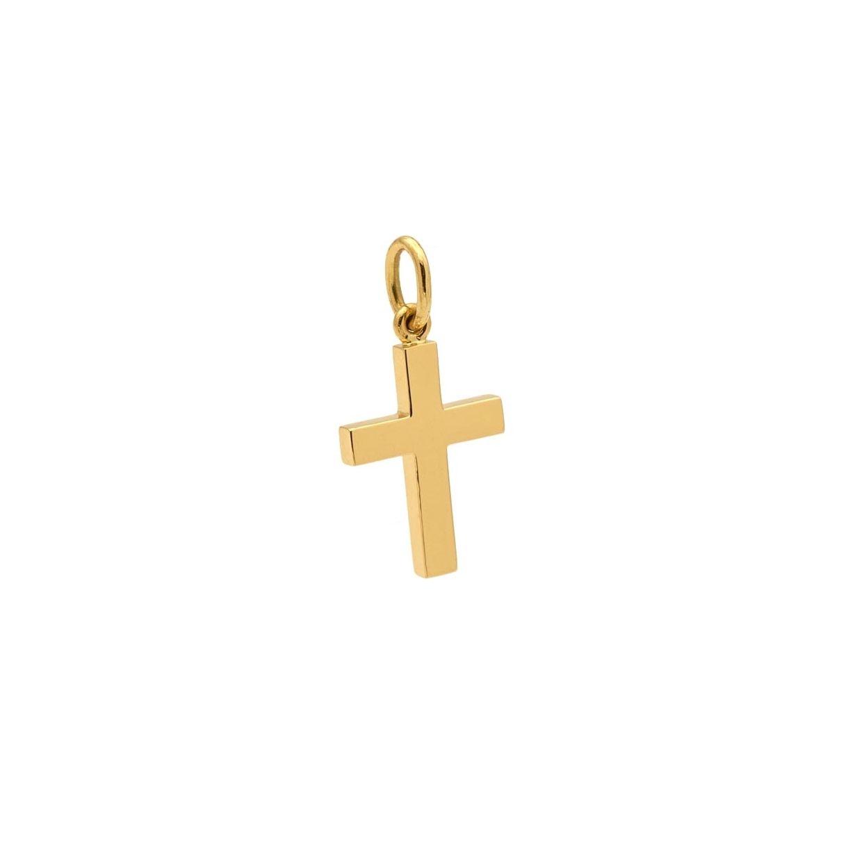 Cruz maciza de oro amarillo