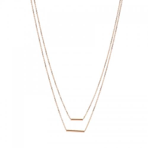 Collar cadena de oro rosa